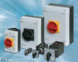 Компания Eaton предлагает широкий спектр типов и сочетаний кулачковых переключателей Т и выключателей нагрузки Р, а выключатели-разъединители Dumeco DMM
