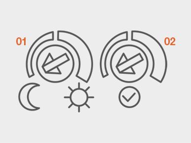 Потенциометры регулируют яркость и время задержки