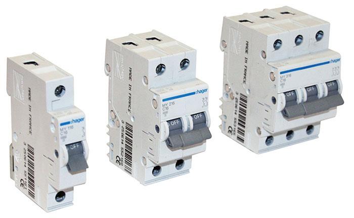 Качественные модульные автоматические выключатели Hager