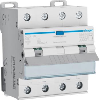 Новые дифференциальные автоматические выключатели HAGER для 3-х фазной сети