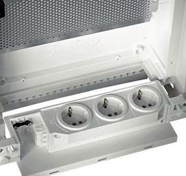 Электрические розетки для питания активных компонентов