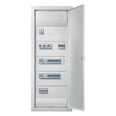 Так выглядит электрический шкаф уже в сборе с автоматическими выключателями.