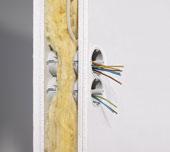 Звукоизоляция электромонтажной коробки Kaiser для полых стен
